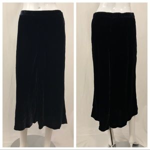 Nordstrom Signature Skirts - Nordstrom Signature Deep Navy Velvet Long Skirt M